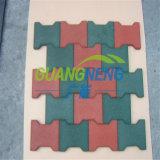 De RubberTegel van de speelplaats, hond-Been RubberTegel, Rubber Stabiele Tegels, Interlocking Rubber Bevloering van de Speelplaats van tegels de Antislip Rubber
