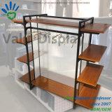 Présentoir debout de gondole d'étage avec du bois et l'acier