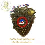 カスタム安く浮彫りにされた銅めっきの柔らかいエナメルのブランド3Dメダル