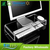 Soporte de acrílico transparente para el equipo la pantalla del monitor o televisor LCD