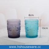 Projeto Girassol azul suporte para velas de vidro