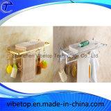 Multifunción de acero inoxidable de alta calidad Bastidores de toallas con ganchos (TR-04)