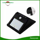 8 LEDの太陽エネルギーPIRの動きセンサーの壁ライト屋外の防水庭ランプ