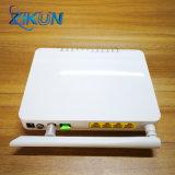 Solo receptor óptico Gpon ONU de la fibra FTTH CATV de Zc-500gwt 4ge+ CATV+ WiFi