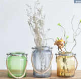 Florero de cristal decorativo de /Home del florero de cristal colorido portable