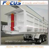 35m3 U 모양 판매를 위한 유압 반 대량 쓰레기꾼 트럭 트레일러 팁 주는 사람