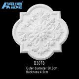 Las molduras decorativas de poliuretano PU para mercado Globle medallones de techos PU