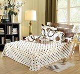 寝具セットの女王の双生児の大型のシーツの一定の寝具のキルトの羽毛布団カバーセット