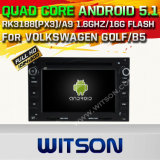 Автомобиль DVD GPS Ffor Фольксваген Golf/B5 Android 5.1 Witson с поддержкой интернета DVR ROM WiFi 3G набора микросхем 1080P 16g (A5706)