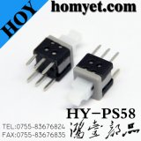 China High Quality 6 Pins Long Ttem Tact Switch DIP Tipo Key Switch Auto-Lock Toggle Switch (Hy-PS85L)
