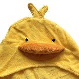 100% хлопок малыша малышу колпачковая банными полотенцами с желтыми утка