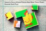 Vieh-hölzernes Block-Puzzlespiel (6 in 1) für Kleinkinder