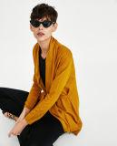 Женщин мода трикотаж Вязаная кофта с ленты