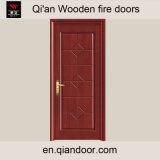 Porte coupe-feu composée en bois plaquée de HDF