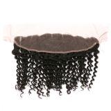 13X4 capelli profondi del Virgin della chiusura del merletto del Toupee dei capelli umani dell'onda 100%