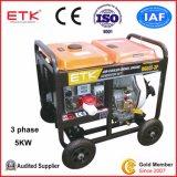 Gruppo elettrogeno diesel approvato ISO9001 e del CE (DG6LE-3P)