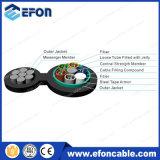 7 figura de aço 8 cabo de fibra óptica do fio 6/12/24core da costa