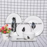Nouvelle conception de la vaisselle en porcelaine populaire défini pour le Restaurant
