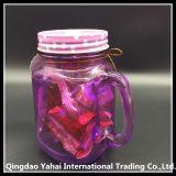 450 мл фиолетовый цвет стекла Мейсон кувшин блендера