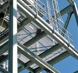 Grille en acier galvanisée d'IMMERSION chaude pour l'étage de plate-forme de structure métallique