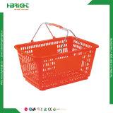 Cesta de compra plástica para lojas