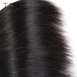 閉鎖の人間の毛髪4*4を搭載する9Aブラジルの膚触りがよいStaightの束は部分のレースの閉鎖3bundles Remyの毛を放す