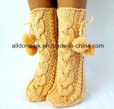 Fábrica Custom Hand Knit Inverno Boot Slipper Meias