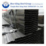 Ms espesor fino negro tubo tubo cuadrado de recocido para muebles/tubo rectangular para muebles