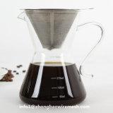 Ohne Papier über Kaffee Infuser, Edelstahl-mehrfachverwendbarer Tropfenfänger-Kegel-Kaffee-Filter, Kaffee-Brauer gießen
