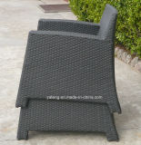 Cadeira de café ao ar livre empilhável com moldura de alumínio e cadeira de café PE-Rattan (YT236)