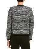 2018 Últimos diseños de las mujeres de Tweed Wool-Blend cortas Blazer Wholesale