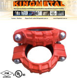 Ductile fire Fighting Cast Iron Grooved Rigid Coupling.