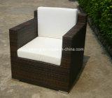 Mobiliário de jardim ao ar livre Flat Synthetic PE Rattan Wicker Relax Sofa Set com cadeira de 3 lugares e clube (YT253)