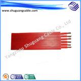 Isolação resistente de alta temperatura da borracha de silicone e cabo flexível macio da bainha