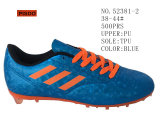 Drei Farben-Dame und Mann-Schuh-Fußball-Aktien-Schuhe