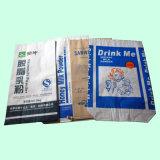 Sacchetto industriale della carta kraft Della parte inferiore del quadrato di uso per di latte in polvere (25kg)