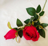 La seda verdadero toque de flor artificial