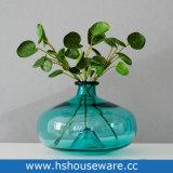 Vaso di vetro colorato del germoglio del collo dello stretto di arte saltato mano
