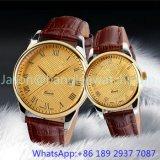 Het Horloge van het Kwarts van het Roestvrij staal van de hoogste-kwaliteit, Echte Band 15134 van het Leer