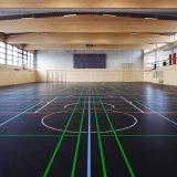 Salle de gym en PVC à usages multiples de 4,5 mm Rouleau de revêtement de sol