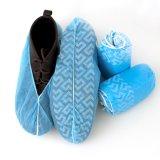 Desechables de plástico impermeable duradera Cubrezapatos con elástico