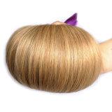 Волосы 3bundles блондинкы меда бразильские прямые с париком закрытия