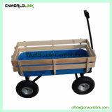 高品質浜ワゴン貨物ワゴンを折っている木ワゴン子供