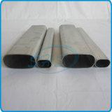 Edelstahl-flaches mit Seiten versehenes ovales Rohr für Balkon-Leitschiene
