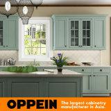 Oppeinの現代緑のゲラ贅沢なPVC食器棚(OP15-PVC03)