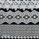 웨딩 드레스 또는 셔츠 부속품 L077를 위한 두꺼운 부채 모양으로 만들어진 속눈섭 레이스 손질