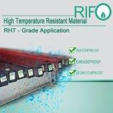 Les étiquettes de matériaux à haute température de l'acier par Pet papier chromé