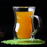 Het dubbele Glas van de Koffie van Borosilicate van het Glas van de Koffietafel van het Glas van het Sap van de Muur