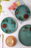 Plato de porcelana de diseño más reciente de la impresión de la mano