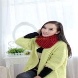 Nova 100% Mulher acrílico lenço redonda de Inverno sólido de malha